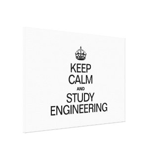 KEEP CALM AND STUDY ENGINEERING CANVAS PRINTS