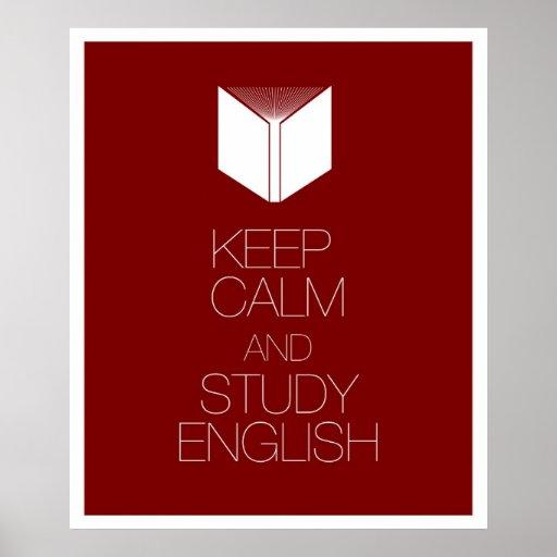 Keep Calm and Study English Posters