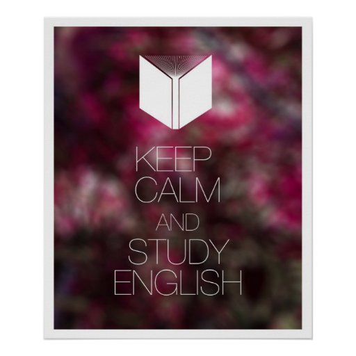 Keep Calm and Study English Print