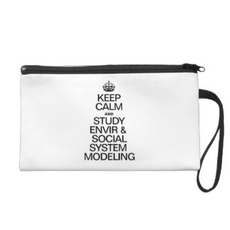 KEEP CALM AND STUDY ENVIR AND SOCIAL SYSTEM WRISTLETS