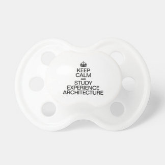 KEEP CALM AND STUDY EXPERIENCE ARCHITECTURE BooginHead PACIFIER