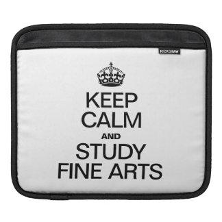 KEEP CALM AND STUDY FINE ARTS SLEEVE FOR iPads