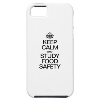 KEEP CALM AND STUDY FOOD SAFETY iPhone 5 COVER