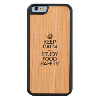 KEEP CALM AND STUDY FOOD SAFETY CHERRY iPhone 6 BUMPER