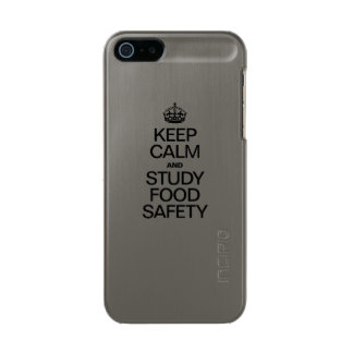 KEEP CALM AND STUDY FOOD SAFETY INCIPIO FEATHER® SHINE iPhone 5 CASE