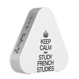 KEEP CALM AND STUDY FRENCH STUDIES BLUETOOTH SPEAKER