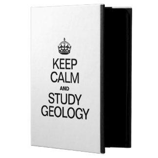 KEEP CALM AND STUDY GEOLOGY iPad AIR COVERS