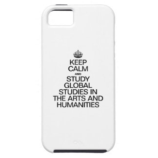 KEEP CALM AND STUDY GLOBAL STUDIES IN THE ARTS iPhone 5 CASE