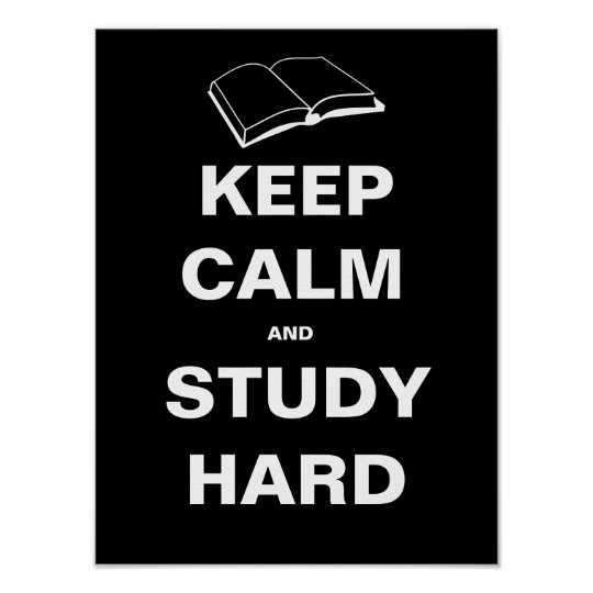 Keep Calm And Study Hard Poster