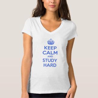 Keep Calm and Study Hard Tshirts