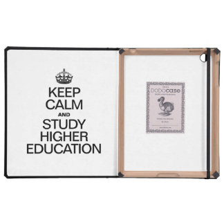 KEEP CALM AND STUDY HIGHER EDUCATION iPad FOLIO COVER