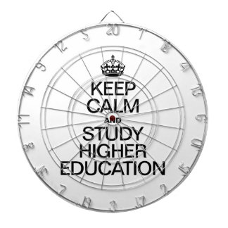KEEP CALM AND STUDY HIGHER EDUCATION DARTBOARD WITH DARTS