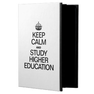 KEEP CALM AND STUDY HIGHER EDUCATION iPad AIR CASE