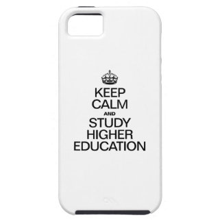 KEEP CALM AND STUDY HIGHER EDUCATION iPhone 5 COVER