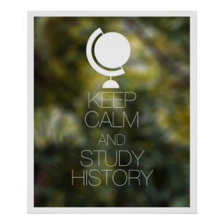 Keep Calm and Study History Posters
