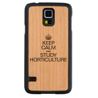 KEEP CALM AND STUDY HORTICULTURE CARVED® CHERRY GALAXY S5 SLIM CASE