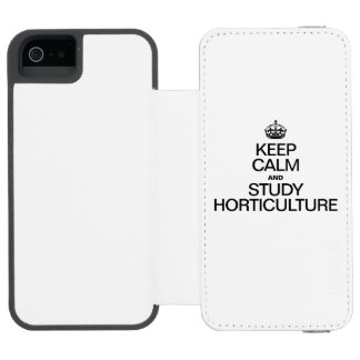 KEEP CALM AND STUDY HORTICULTURE INCIPIO WATSON™ iPhone 5 WALLET CASE