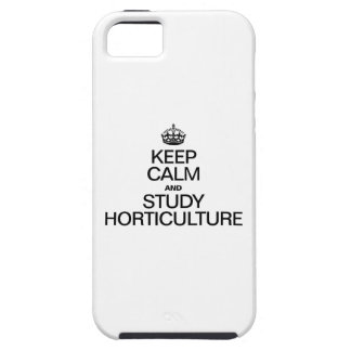 KEEP CALM AND STUDY HORTICULTURE iPhone 5 COVER