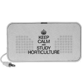 KEEP CALM AND STUDY HORTICULTURE PC SPEAKERS