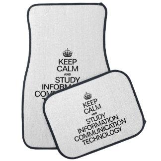 KEEP CALM AND STUDY INFORMATION COMMUNICATION TECH CAR MAT