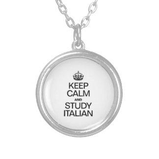 KEEP CALM AND STUDY ITALIAN CUSTOM NECKLACE