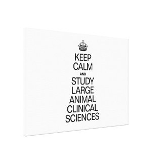KEEP CALM AND STUDY LARGE ANIMAL CLINICAL SCIENCES STRETCHED CANVAS PRINT