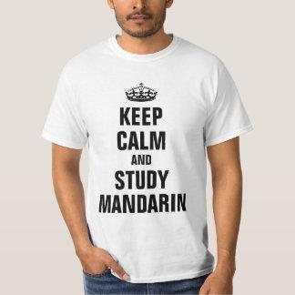 Keep calm and study Mandarin Shirt