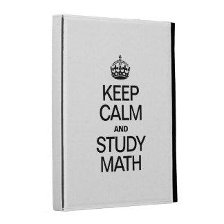 KEEP CALM AND STUDY MATH iPad CASES