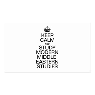 KEEP CALM AND STUDY MODERN MIDDLE EASTERN STUDIES PACK OF STANDARD BUSINESS CARDS