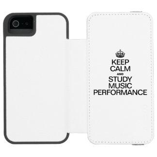 KEEP CALM AND STUDY MUSIC PERFORMANCE INCIPIO WATSON™ iPhone 5 WALLET CASE