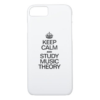 KEEP CALM AND STUDY MUSIC THEORY iPhone 7 CASE