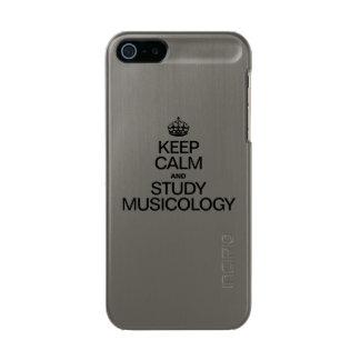 KEEP CALM AND STUDY MUSICOLOGY INCIPIO FEATHER® SHINE iPhone 5 CASE