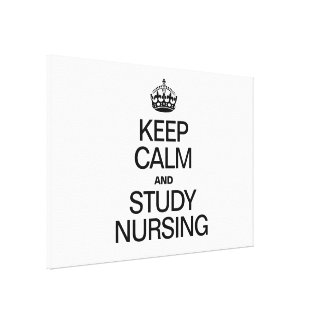 KEEP CALM AND STUDY NURSING GALLERY WRAPPED CANVAS