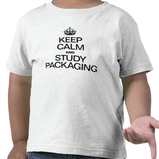 KEEP CALM AND STUDY PACKAGING TSHIRTS