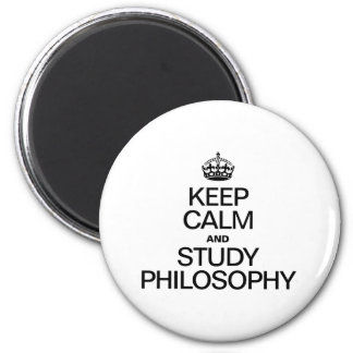 KEEP CALM AND STUDY PHILOSOPHY MAGNET