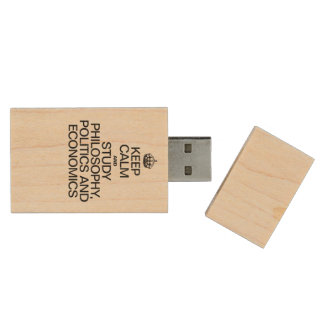 KEEP CALM AND STUDY PHILOSOPHY POLITICS AND ECONOM WOOD USB 2.0 FLASH DRIVE