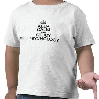 KEEP CALM AND STUDY PSYCHOLOGY TEE SHIRT