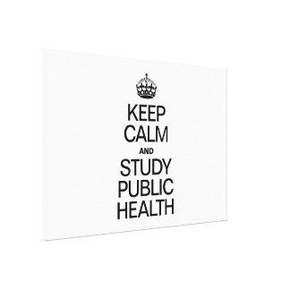 KEEP CALM AND STUDY PUBLIC HEALTH CANVAS PRINTS