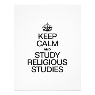 KEEP CALM AND STUDY RELIGIOUS STUDIES PERSONALIZED FLYER