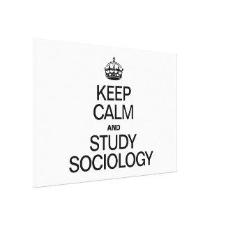 KEEP CALM AND STUDY SOCIOLOGY GALLERY WRAP CANVAS