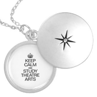 KEEP CALM AND STUDY THEATRE ARTS ROUND LOCKET NECKLACE