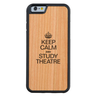 KEEP CALM AND STUDY THEATRE CARVED® CHERRY iPhone 6 BUMPER CASE
