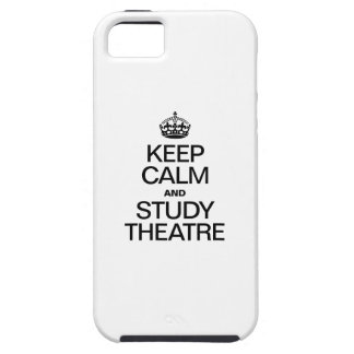 KEEP CALM AND STUDY THEATRE iPhone 5 COVER