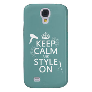Keep Calm and Style On (any background color) Galaxy S4 Case