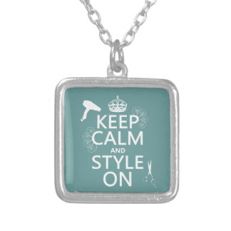 Keep Calm and Style On (any background color) Custom Jewelry