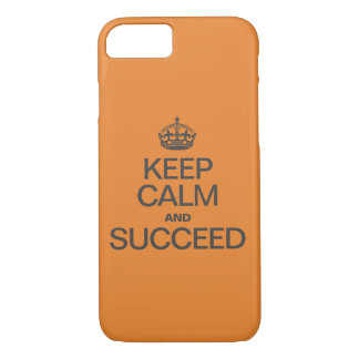 KEEP CALM AND SUCCEED Colorful orange iPhone 8/7 Case
