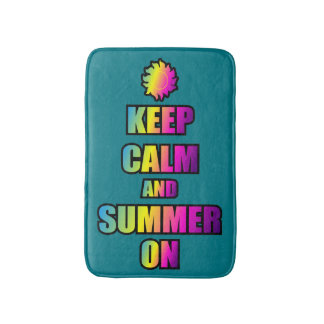 Keep Calm And Summer On Bath Mats