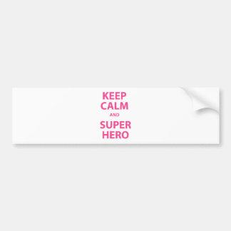 Keep Calm and Superhero Bumper Stickers