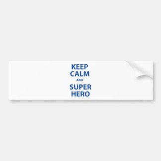 Keep Calm and Superhero Bumper Sticker