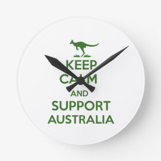 Keep Calm and support Australia Round Clock